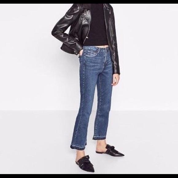 89bd2be2 Zara Jeans | Cropped Flare | Poshmark